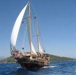 schip aan het varen
