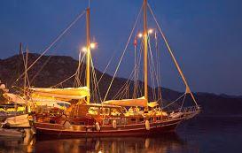 schip bij nacht
